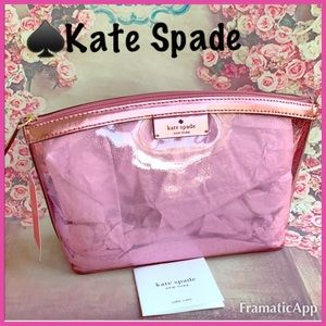 🎄🆕♠️Kate Spade NY Pink Sabine Cosmetic Pouch
